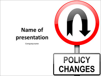 Changes in the rules of road sign PowerPoint Template