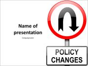 Changes in the rules of road sign PowerPoint Templates