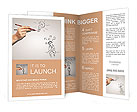 Painted man thought Brochure Templates