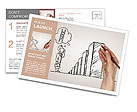 Hand drawing graphics and risks Postcard Template