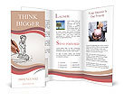 Painted man stands on the chart Brochure Templates