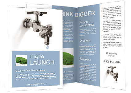 Associated tap into a knot to save water Brochure Template ...