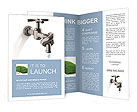 Associated tap into a knot to save water Brochure Templates