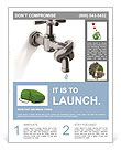 Associated tap into a knot to save water Flyer Templates
