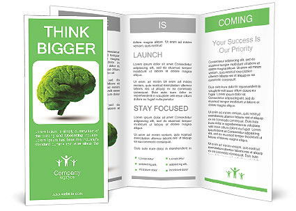 The Human Brain Is Green Brochure Template Design Id 0000010608