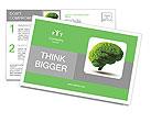 The human brain is green Postcard Template