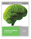 The human brain is green Word Templates