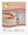 Umbrella drawn human Flyer Template