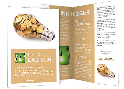 Electricity Is Money Brochure Template Design Id 0000010613
