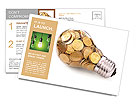 Electricity is money Postcard Template