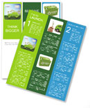 The concept of a green car of the future Newsletter Templates