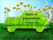 Le concept d'une voiture verte de l'avenir Modèles des présentations  PowerPoint