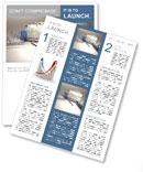 Business finance chart Newsletter Template
