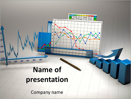 Negocios tabla finanzas Plantillas de Presentaciones PowerPoint