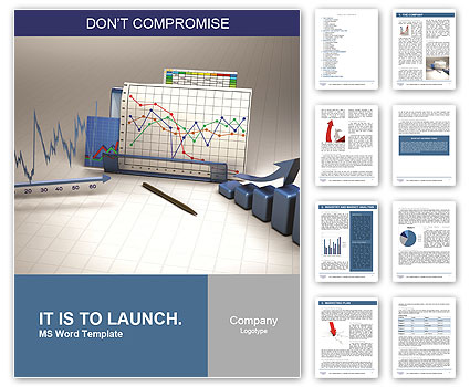 Business finance chart Word Template Design ID 0000010616 – Word Diagram Template