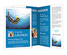 Beautiful girl dives Brochure Templates