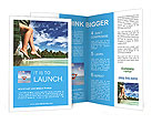 Female legs in nature Brochure Template
