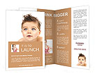 The little boy poses on a white background Brochure Templates