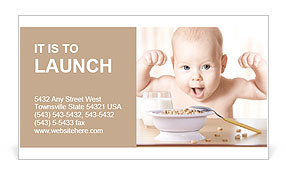 Happy baby Business Card Template