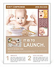 Happy baby Flyer Template