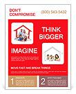 Happy home concept Flyer Templates