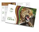 Anger Leopard Postcard Template