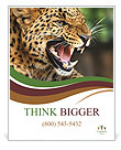 Anger Leopard Poster Templates
