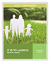 The image of the ideal family on a green lawn Word Templates
