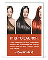 The girls with perfect hair different colors Ad Template