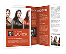 The girls with perfect hair different colors Brochure Template