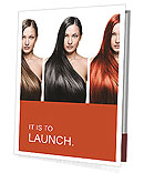 The girls with perfect hair different colors Presentation Folder