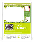 Frame of green leaves Flyer Template