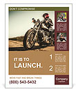Biker girl sits on a motorcycle Poster Templates