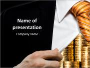 Businessman and its capital PowerPoint Templates