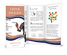 Businessman building a project concept Brochure Templates