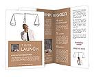 Businessman and inner harmony Brochure Template