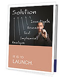 Business man writing solution Presentation Folder