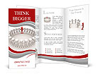 3d people - human character in circle with leadership.3d render illustration Brochure Templates