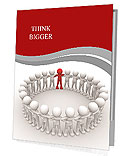 3d people - human character in circle with leadership.3d render illustration Presentation Folder