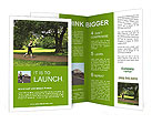 A man runs through the park Brochure Templates