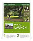 A man runs through the park Flyer Template