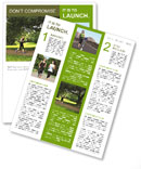 A man runs through the park Newsletter Template