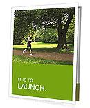 A man runs through the park Presentation Folder
