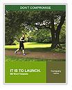 A man runs through the park Word Templates