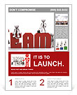 The word team and the way people around the word Flyer Template