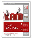 The word team and the way people around the word Poster Template