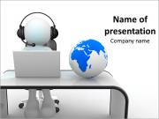 Изображение человека тратить время в Интернете Шаблоны презентаций PowerPoint