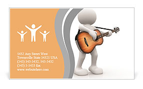 The image of a musician with a guitar business card template the image of a musician with a guitar business card template reheart Images