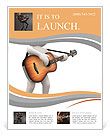 The image of a musician with a guitar Flyer Template