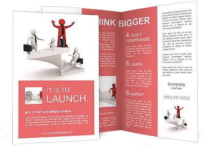 the image of the career ladder brochure template design id